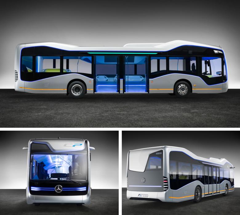 Daimler unveils autonomously driving mercedes benz city for Mercedes benz tour bus
