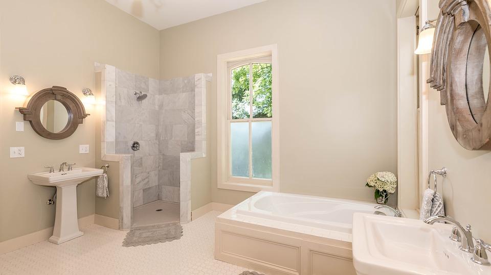 green bathroom redesign