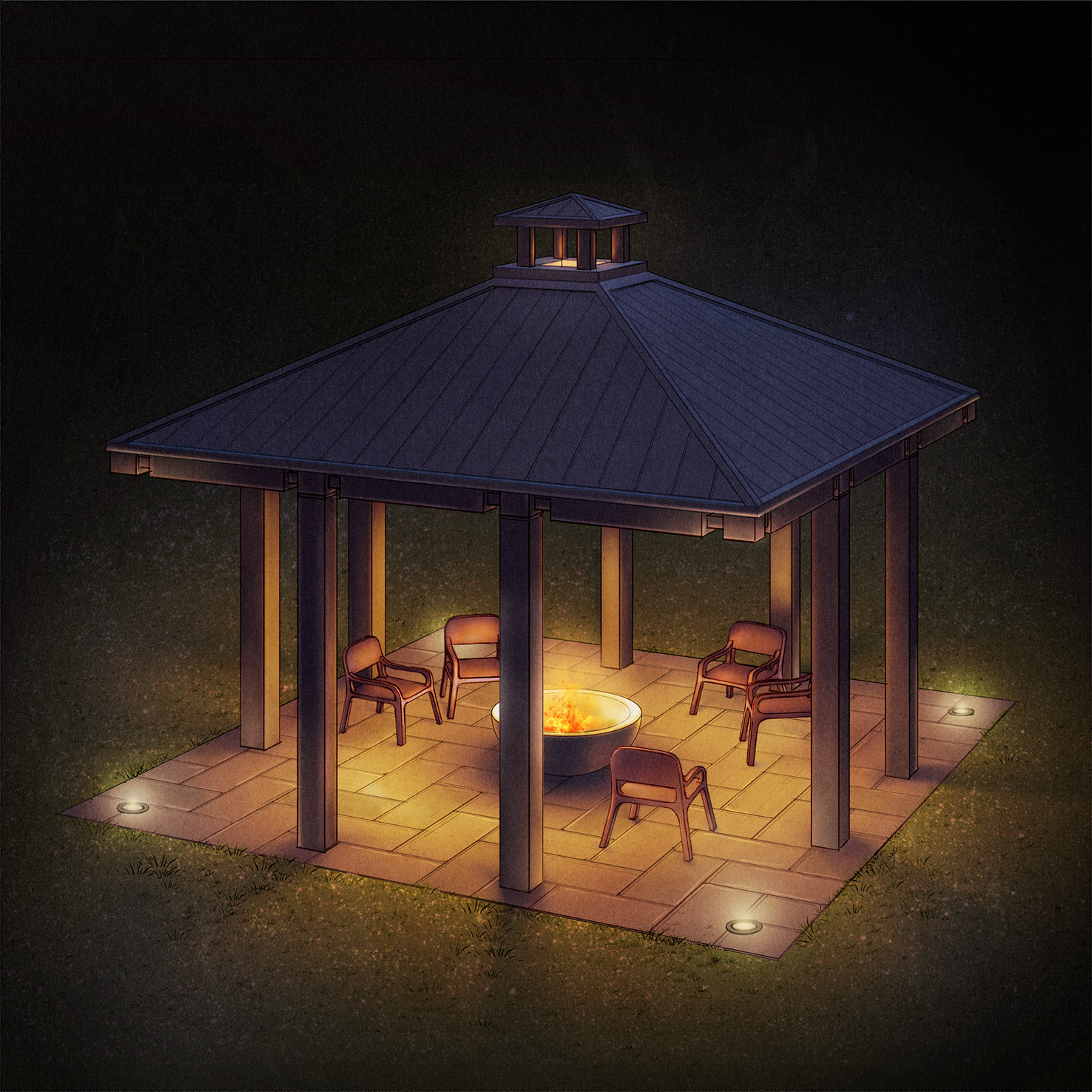 Garden Fire Pit Table