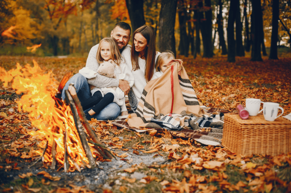 cozy fall with family