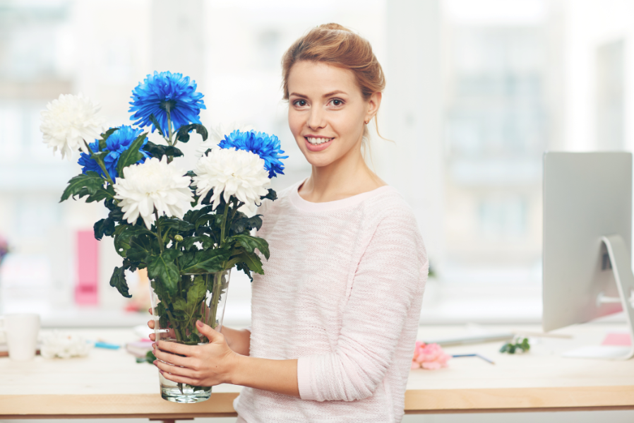 flowers in your home and office